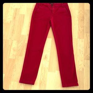 Bershka Size 2 USA red jeans